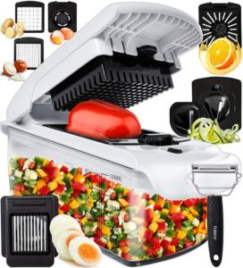 Fullstar Vegetable Chopper Onion Chopper Dicer - Peeler Food Chopper Salad Chopper Vegetable Cutter…
