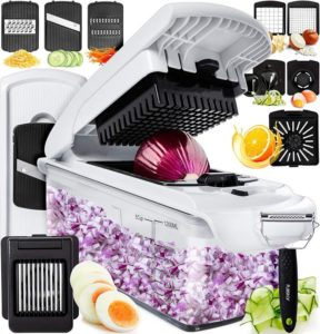 Fullstar Vegetable Chopper Dicer Mandoline Slicer - Food Chopper Vegetable Spiralizer Vegetable Slicer Peeler…