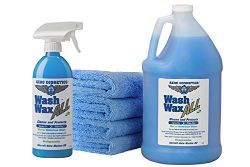 Wet or Waterless Car Wash Wax Kit 144 Ounces. Aircraft Quality for Your Car, RV, Boat, Motorcycle, The Best Car Wash Soap…