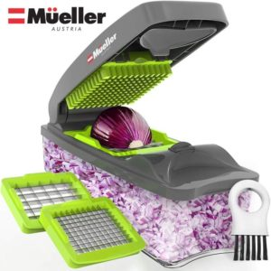Mueller Onion Chopper Pro Vegetable Chopper - Strongest - NO MORE TEARS 30% Heavier…Always Be One among Best Onion Choppers