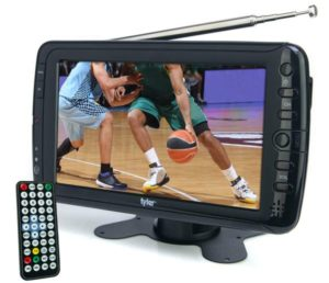 Tyler TTV701 7 Portable Widescreen LCD TV with Detachable Antennas, USB SD Card Slot, Built-in Digital Tuner, and AV Inputs