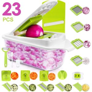 Sedhoom 23 in 1 Vegetable Chopper Food Chopper Onion Chopper Mandoline Slicer w Large, One of Best Onion Choppers
