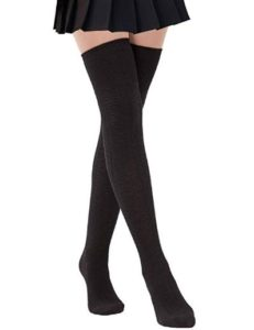 Womens Thigh High Socks Over the Knee High Leg Wamers Girls Winter Warm Crochet Socks