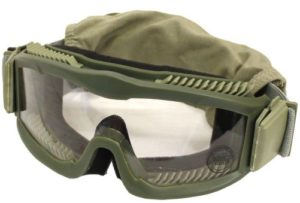 Lancer Tactical Airsoft Safety Goggles, Vented, OD Green