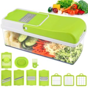Vegetable Chopper Slicer Onion Chopper MOICO Food Dicer Veggie Slicer Cutter Cheese…