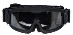 Lancer Tactical Ca-221B Clear Lens Vented Safety Best Airsoft Goggles, Black