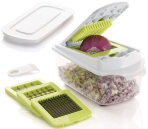 Brieftons QuickPush Food Chopper Strongest & 200% More Container Capacity, 30 Heavier Duty…