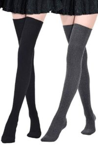 Kayhoma Extra Long Cotton Best Thigh High Socks Over the Knee High Boot Stockings Cotton Leg Warmers