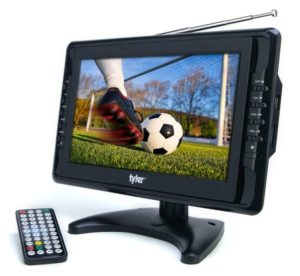 Tyler TTV703 10 Portable Widescreen LCD TV with Detachable Antennas, USB SD Card Slot, Built-in Digital Tuner, and AV Inputs