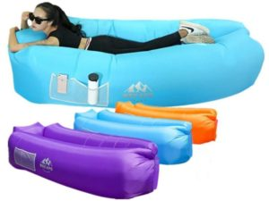 WEKAPO Inflatable Lounger Air Sofa Hammock-Portable, Water Proof& Anti-Air Leaking Design…