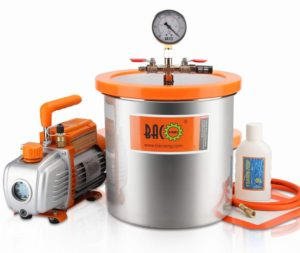 3-Gallon Vacuum Chamber Kit with 3.6 CFM 1 Stage Vacuum Pump HVAC