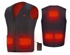 AIPER Heated Vest with 10000mAh Battery Electric Body Warmer Heating Pad for Men and Women
