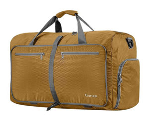 Gonex 60L Packable Travel Duffle Bag Foldable for Luggage