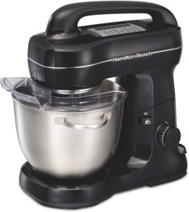 Hamilton Beach Electric Stand Mixer, Tilt-Head, 4 Quarts, 7 Speeds With Whisk, Dough Hook, Flat Beater Attachments…