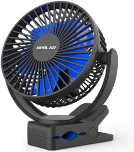 Opolar Rechargeable Battery Operated Clip on Fan 5000mAh, Sturdy Hold and Best Portable Fan
