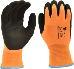 G & F Products 100% Waterproof Winter Gloves for Double Coated Windproof HPT Plam, Keep Hands Warm at -58F Medium,