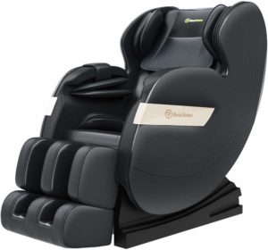 Real Relax 2020 Best Massage Chair under 1000, Full Body Zero Gravity Shiatsu Recliner with Bluetooth and Led Light, Black