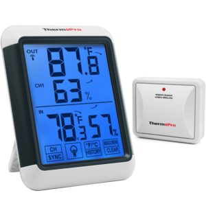 ThermoPro TP65A Best Indoor Outdoor Thermometer Digital Wireless Hygrometer Temperature and Humidity Monitor…