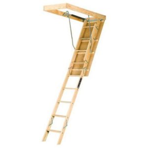 Wooden Best Attic Ladder, Fits 8-Foot 9-Inch to 10-Foot Ceiling Height, 250-Pound Capacity, L224P
