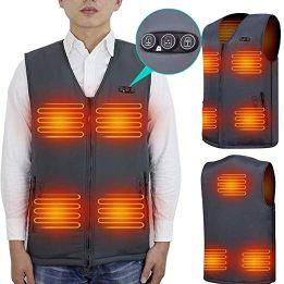 ARRIS Best Heated Vest Size Adjustable 7.4V Battery Electric Warm Vest for Hiking