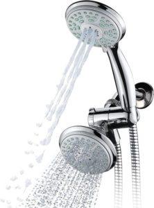 Aquadance 24-Setting Slimline Showerhead and Hand Shower Combo