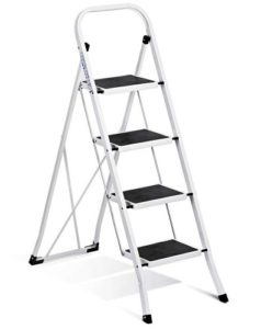 Delxo Folding 4 Step Ladder with Convenient Handgrip