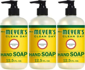 Mrs. Meyer's Clean Day Liquid Best Hand Soap, Honeysuckle Scent, 12.5 fl oz (3 ct)