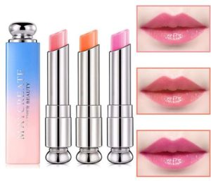 Pack of 3 Crystal Jelly Lipstick, Firstfly Long Lasting Nutritious Lip Balm Lips Moisturizer Magic Temperature Color Change Lip Gloss (3 Pack)