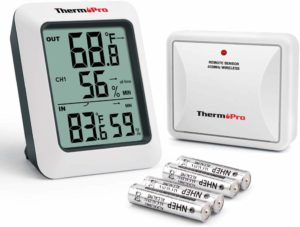 ThermoPro TP60S Digital Hygrometer Best Indoor Outdoor Thermometer Wireless Temperature…