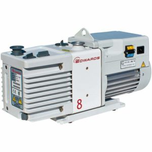 Across International RV8 Edwards RV8 Dual Stage High Capacity Best Vacuum Pump with Fittings, 6.9 cfm, 110 220V, 50 60 Hz