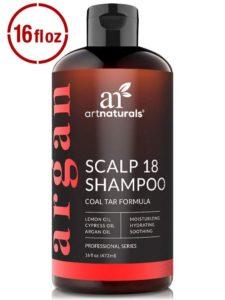 ArtNaturals Therapeutic Argan Anti-Dandruff Shampoo – Natural Argan Oil and Oganic Coal Tar