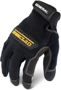 Ironclad General Utility Best Work Gloves GUG, All-Purpose, Performance Fit (1 Pair), Large