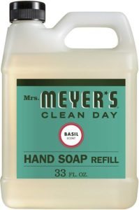 Mrs. Meyer's – Liquid Best Hand Soap Refill, Basil – 33 Ounce (975ml)