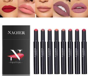 NAQIER Matte Lipstick Set, 8PCS Nude Moisturizer Smooth Lip Stick, Waterproof liquid lipstick…