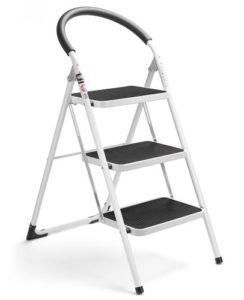 Delxo 3 Step Ladder Folding, Best Step Stool with Handgrip