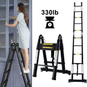 A-Frame Shape Best telescoping Ladder with Fordable