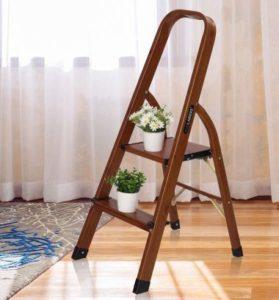 LUISLADDER Best Step ladder and Lightweight WoodGrain Aluminum