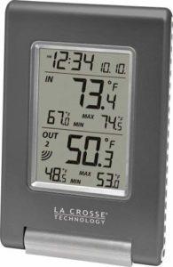 La Crosse Technology WS-9080U-IT-CBP Wireless inOut Temperature Station Featuring Atomic Self-Setting time & MIN MAX Records