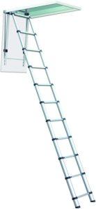 Telesteps 1000L OSHA Compliant 8-10 ft Ceiling Heights Telescoping Attic or Loft Ladder