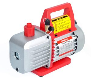 4.5CFM Single-Stage Rotary Vane Vacuum Pump (4.5CFM, 150 Miron, 1 3HP, 1 4 Flare 1 2 Acme Inlet) for HVAC Auto…