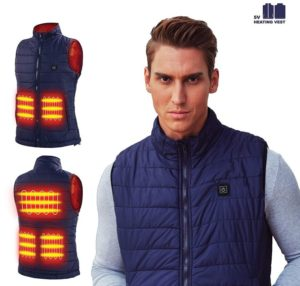 Heated USB Electric Puffer Vest Heating Jacket Cold-Proof Warm Clothes (Battery Not Included)