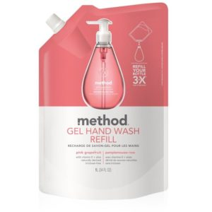 Method Gel Hand Soap Refill, Pink Grapefruit, 34 Ounce