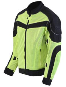 Bilt Techno Hi-Viz Protective CE Armor Removable Liner Warm Weather Vented Street Bike Motorcycle Mesh Jacket
