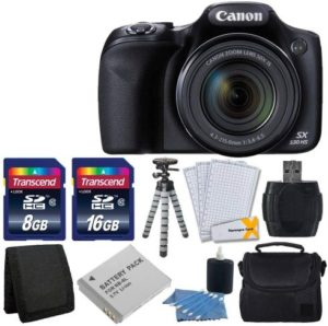 Canon PowerShot SX530 HS Best Camera under 300 with 50x Optical Image Stabilized Zoom with 3-Inch LCD HD 1080p Video, Accessory Bundle
