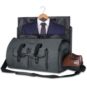 Carry-on Garment Bag Large Duffel Bag Suit with Shoe Pouch, 45L