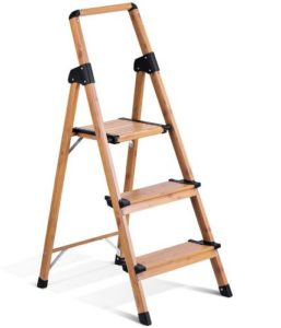 Delxo Light Weight Aluminum Step Ladder with Folding Stool Stepllader