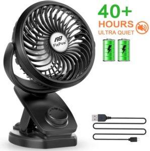Battery Operated Clip Fan, 4400mAh