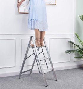 KINGRACK Best Step Ladder, Aluminum StepLadder and Foldable