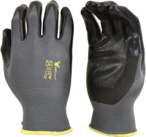 Men's Working Gloves with Micro Foam Coating For general purpose, construction, yard work, Large, 6 PAIRS