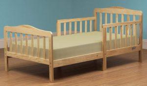 Orbelle 3-6 Best Toddler Bed, Natural